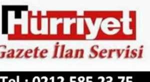 Hürriyet Vefat ilan Servisi 0212.5852375 Hürriyet seri ilan Bürosu