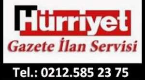 Hürriyet ilan Ajansı 0212.5852375 Sabah Vefat ilan Bürosu