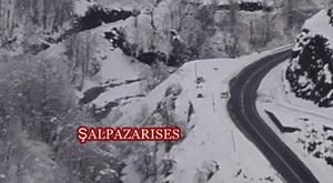 Şalpazarı'nda Kar Yağışı Yerini Kuru Ayaza Bıraktı