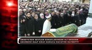 Amasya'nın Sevilen Esnaflarından Ali Erişgen Hayatını Kaybetti.