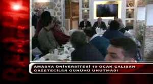 Amasya Üniversitesinden Çalışan Gazeteciler Gününü Unutmadı