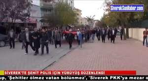Siverek`te şehit polis için yürüyüş düzenlendi